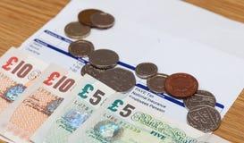 工资单和金钱 免版税图库摄影