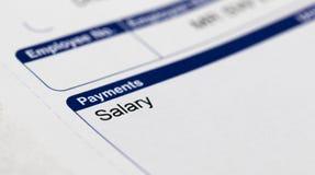 工资单和金钱 图库摄影