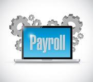 工资单技术计算机标志概念 免版税库存照片