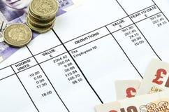 工资单的细节 免版税图库摄影