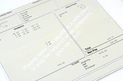 工资单 免版税库存照片