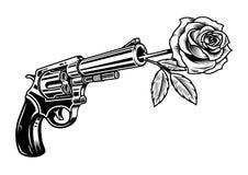 左轮手枪与上升了 皇族释放例证