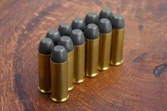 左轮手枪弹药筒 45 Cal狂放的西部期间 库存图片