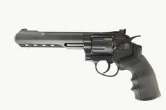 左轮手枪枪.38 mm和项目符号有空白背景 免版税库存图片
