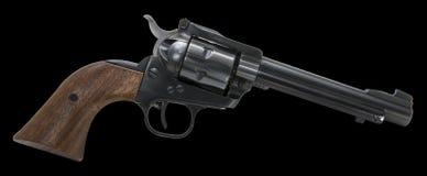 左轮手枪武器被隔绝的黑背景 免版税库存照片