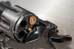 左轮手枪细节  免版税库存照片