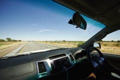 左边驾驶在非洲 免版税库存图片