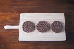 巧克力、牛奶和曲奇饼 免版税图库摄影