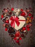 巧克力为情人节 库存照片