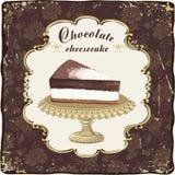 巧克力乳酪蛋糕 免版税库存图片