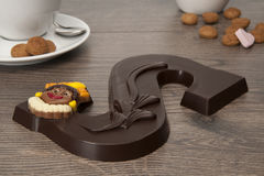 巧克力信函 免版税库存照片