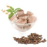 巧克力冰淇凌点心 免版税库存照片