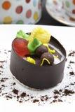巧克力冰淇凌蛋糕 库存照片