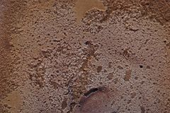 巧克力冰淇凌,甜冷冻甜点表面为夏天 免版税图库摄影