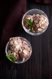 巧克力冰淇凌 免版税库存照片