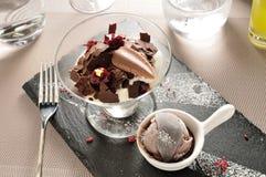 巧克力冰淇凌 库存照片