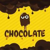 巧克力动画片背景 免版税库存图片