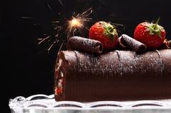 巧克力卷瑞士 免版税库存照片
