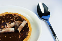 巧克力可口馅饼 免版税库存照片