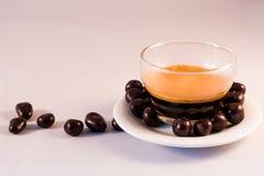 巧克力和咖啡 免版税库存照片