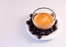 巧克力和咖啡 免版税库存图片