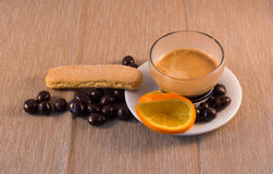 巧克力和咖啡 库存图片