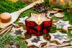 巧克力和曲奇饼圣诞节 库存图片