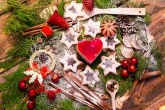 巧克力和曲奇饼圣诞节 库存照片
