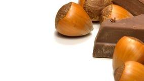 巧克力和榛子 库存图片