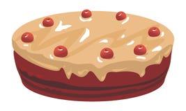 巧克力和樱桃蛋糕 免版税图库摄影