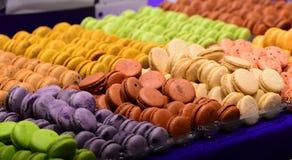 巧克力和糖果的陈列在索非亚, 2017年3月11日的保加利亚举行了 免版税库存照片