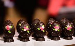 巧克力和糖果的陈列在索非亚, 2017年3月11日的保加利亚举行了 免版税库存图片