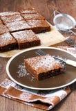 巧克力和绿皮胡瓜蛋糕 库存照片