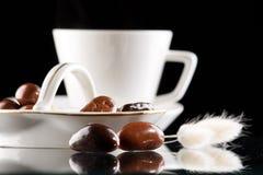 巧克力咖啡下落 图库摄影