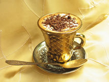 巧克力咖啡奶油冰 免版税库存图片