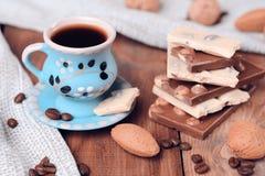 巧克力咖啡杯向量 库存图片