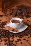 巧克力咖啡杯向量 库存照片