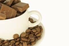 巧克力咖啡杯 免版税图库摄影
