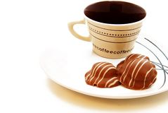 巧克力咖啡杯 库存照片