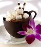 巧克力咖啡杯 库存图片