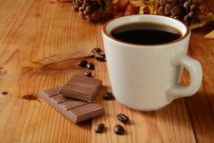 巧克力咖啡牛奶 免版税库存图片