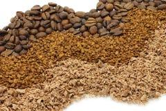 巧克力咖啡被磨碎的路径 免版税库存图片