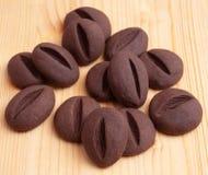 巧克力咖啡豆形状 库存照片