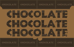巧克力啃了 皇族释放例证