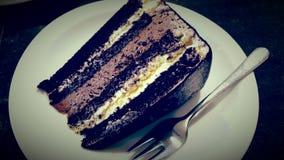 巧克力嗜好蛋糕 库存图片