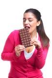 巧克力嗜好 免版税库存照片
