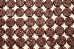 巧克力圆盘 免版税库存照片