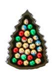 巧克力圣诞树 库存图片