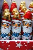 巧克力圣诞老人 库存照片