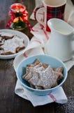 巧克力圣诞节曲奇饼 免版税库存图片